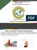 PRESENTACION COSTOS Y PROGRAMACION DE OBRAS