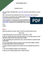 Aptis Reading Demo Test 3