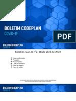 Boletim Codeplan COVID-19