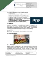 procedimientos de aceites usados.