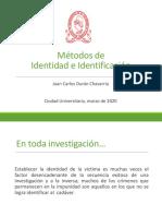 Identidad e Identificación de cadaveres
