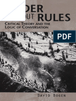 (SUNY Series in the Philosophy of the Social Sciences) David Bogen - Order Without Rules_ Critical Theory and the Logic of Conversation-State University of New York Press (1999).pdf