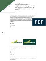 I. Buenas prácticas generales a considerar por parte de los agentes de las cadenas logísticas y productivas de ECOPETROL S.A_