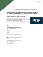 7.La optimización de la compresión fase de prioridad de las señales de tránsito en las intersecciones aisladas
