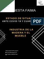 Encuesta FAIMA - COVID19 y Cuarentena