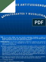 FARMACOS ANTITUSIGENOS, EXPECTORANTES