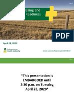 Nouvelles prévisions de la COVID-19 en Saskatchewan