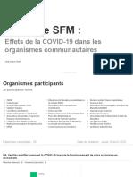 Sondage de la SFM auprès des organismes