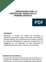 GUIA ORIENTADORA PARA LA GESTIÓN DEL RIESGO EN LA PRIMERA INFANCIA