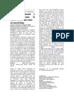 Psicología del color estudio, en español