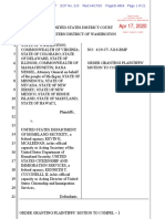 WA v. DHS Order on Motion to Compel