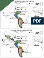 Mapa países hispanohablantes