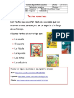 Taller No. 3 - Textos narrativos