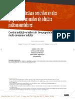Creencias adictivas centrales en dos grupos poblacionales de adultos policonsumidores