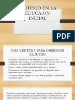 EL JUEGO EN LA EDUCAION INICIAL 2020 alba chavez