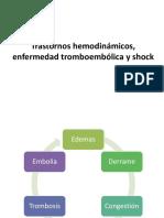 Trastornos hemodinámicos, enfermedad tromboembólica y shock