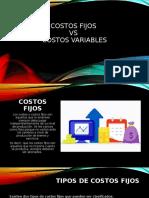 COSTOS FIJOS VS COSTOS VARIABLES