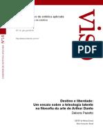 Debora Pazetto - Destino e liberdade_um ensaio sobre a teleologia latente na filosofia da arte de Danto