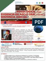 LA PERICIA PS. EN JUICIO ORAL Y SENTENCIA JUDICIAL