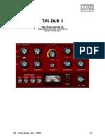 TAL Dub II User Manual EN
