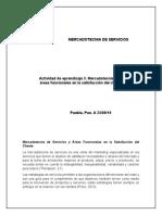 act 3. Mercadotecnia de-servicios y áreas funcionales en la satisfacción del cliente