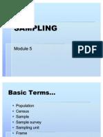 Module 5 Sampling