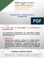 Organizacion y presentacion de datos