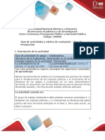 Guía de actividades y rúbrica de evaluación - Fase 3 - Prospección