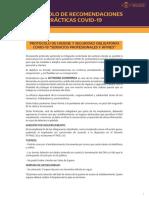 """Protocolo de Higiene y Seguridad Obligatoria Covid-19 """"Servicios Profesionales y Afines"""""""