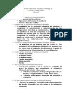 Taller Importancia y Objetivos de La Auditoria Tributaria
