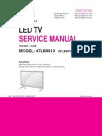 Manual de Serviço TV LG LED 47LB5610 CD Chassis LC43B