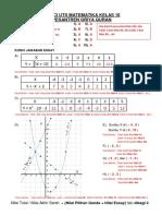 KUNCI UTS Matematika Kelas 10 Pesantren Griya Quran