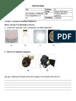 Guía de trabajo ciencias 3° B