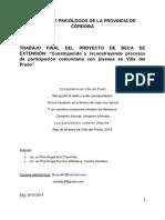 Arri y Carrizo proyecto beca de extensión psicología comunitaria con jóvenes en VdP