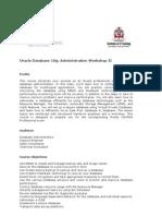 Oracle Database 10g Administration Workshop II