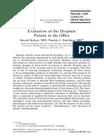 Evaluation of dyspneic patient