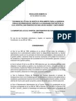 RESOLUCIÓN ADOPCIÓN RENDICIÓN DE CUENTAS 2019