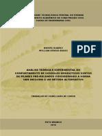 Análise teórica e experimental do comportamento de consoles monolíticos curtos de pilares pré moldados