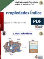 3. Propiedades indice MASA VOLUMETRICA