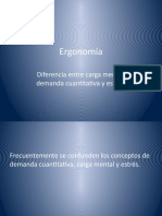 CM Ergonomia Carga Mental Demanda Cuantitativa Estres
