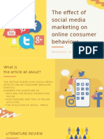 The effect of social media marketing on online consumer behavior.pptx