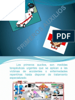 diapositiva de primeros auxilios