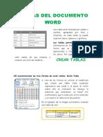 TABLAS DE DOCUMENTO WORD