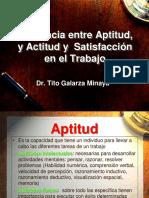 6.- DIFERENCIA ENTRE APTITUD Y ACTITUD