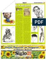 Caricaturistas de Arequipa - Siglo 21 No. 555 - Dic 23 Al 29 - 2010