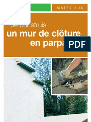 Mur De Clotûre Fondation Construction Mortier Matériau