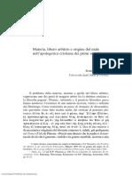 Franchi-Materia, Libero Artibrio e Origine Del Male Nell Apologetica Cristiana Dei Primi Secoli-Helmántica-2011-Volumen-62-n.º-188-Páginas-369-390.PDF