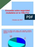 Encuesta sobre seguridad ciudadana en la Villa Frei