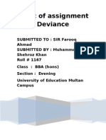 Topic of Asignment Devience(sociology)
