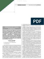 Decreto Supremo N° 076-2020-PCM